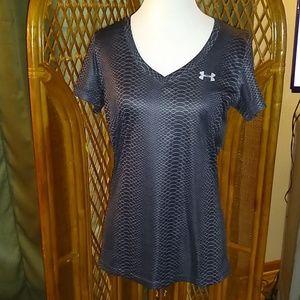 Under Armour Women's Shirt -Medium Charcoal Gray